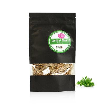 Gefriergetrocknete Mehlwürmer Garlic&Herbs 70 Gramm