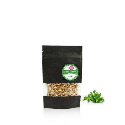 Gefriergetrocknete Mehlwürmer Garlic&Herbs 13 Gramm