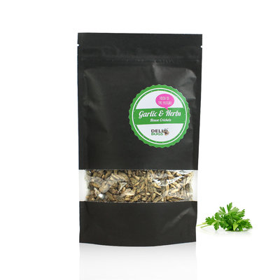 Gefriergetrocknete Heimchen Garlic&Herbs 70 Gramm