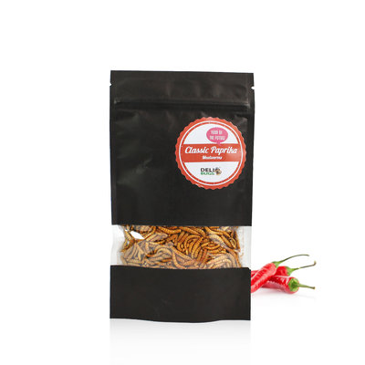 Gefriergetrocknete Mehlwürmer Classic Paprika 40 Gramm