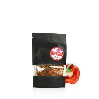 Gefriergetrocknete Kurzflügelgrillen Classic Paprika  15 Gramm