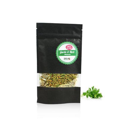 Gefriergetrocknete Mehlwürmer Garlic&Herbs 40 Gramm