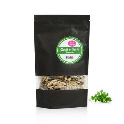 Gefriergetrocknete Heuschrecken Garlic&Herbs 40 Gramm