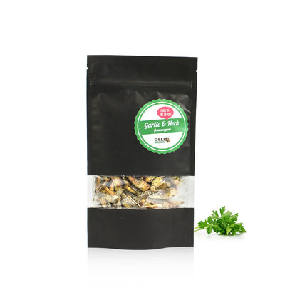 Gefriergetrocknete Heuschrecken Garlic&Herbs 20 Gramm
