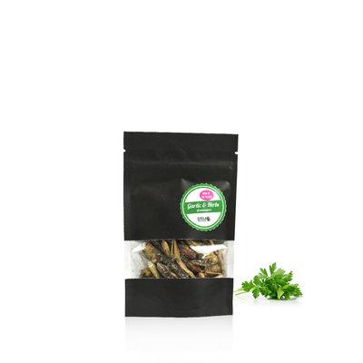 Gefriergetrocknete Heuschrecken Garlic&Herbs 9 Gramm