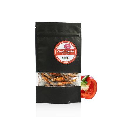 Gefriergetrocknete Heuschrecken Classic Paprika 20 Gramm