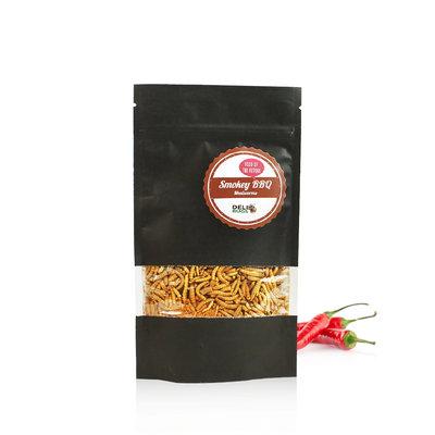 Gefriergetrocknete Mehlwürmer Smokey BBQ 40 Gramm